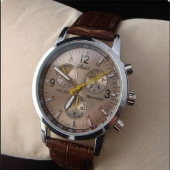 Shshd Leather Elegant Watch - Brown