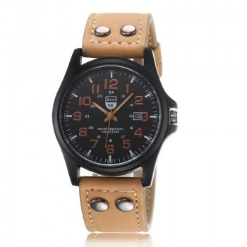 BROWN LEATHER WRIST WATCH