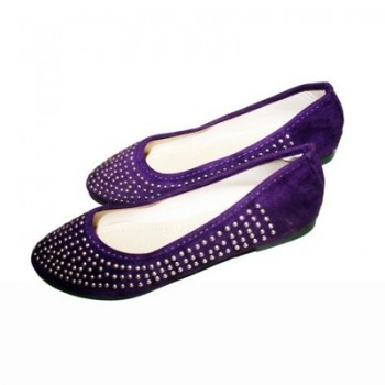 Female Studded Flat - Purple 10