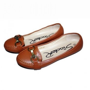 Ladies Brown Loafers 12