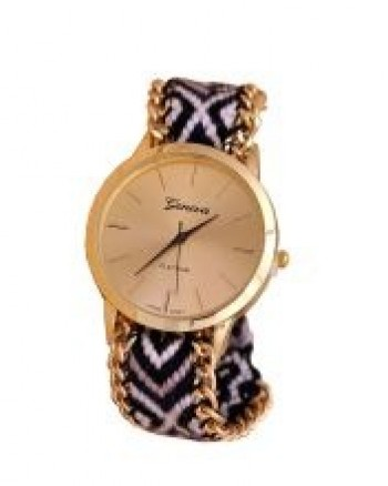 Golden Face Geneva Ladies Quartz Wrist Watch