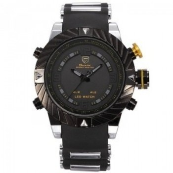 Shark Bezel Swirl LED Sport Watch