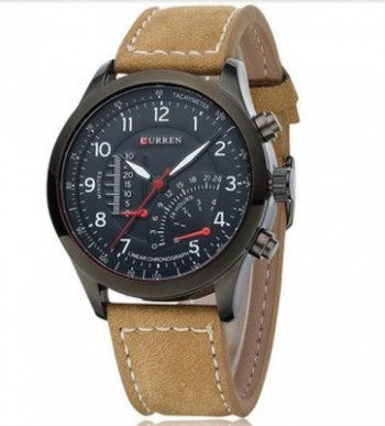 Curren Men's Military Leather Sports Watch